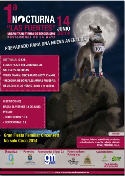 Captura cartel ruta nocturna